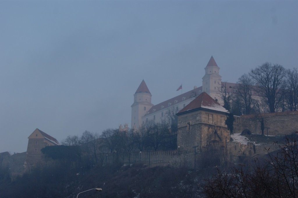 Bratislava Castle, Bratislavský hrad, Slovakia, Travel, Sights, Fog