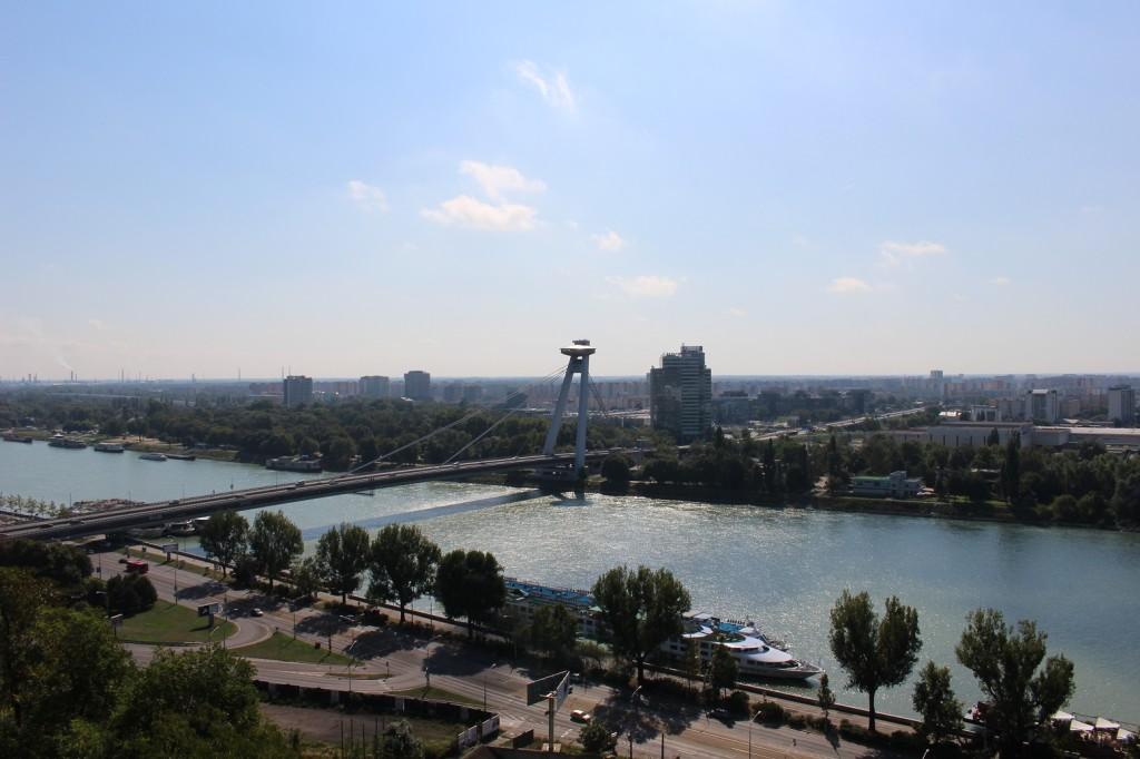 Bratislava Castle, Bratislavský hrad, Slovakia, Travel, Sights, Most SNP, Novy Most, UFO Bridge