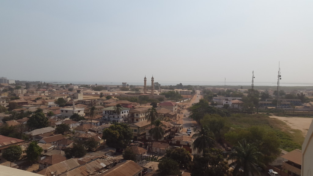 View from Arch 22, Banjul, The Gambia