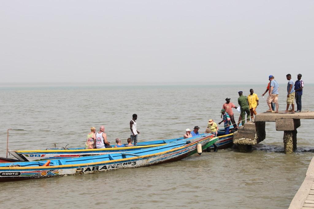 Wooden boat at Kunta Kinteh Island
