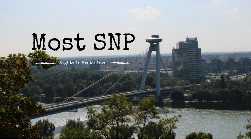Bridge of the Slovak National Uprising, Most SNP, UFO Bridge, Sights in Bratislava, Slovakia, Travel