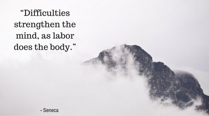 """Difficulties strengthen the mind, as labor does the body."""
