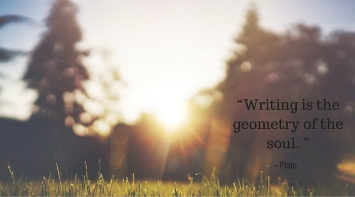 """Writing is the geometry of the soul. """
