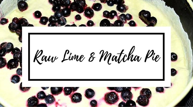 Raw Lime & Matcha Pie