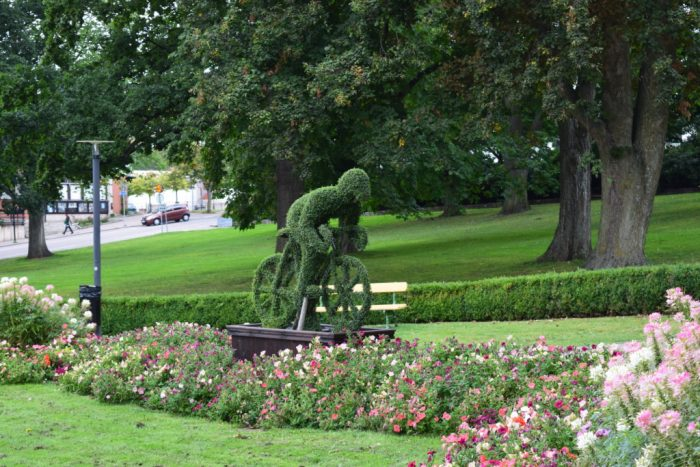 Green Cyclist, Motala, Sweden