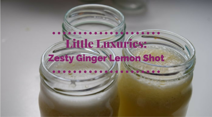 Cheer Up With A Zesty Ginger Lemon Shot