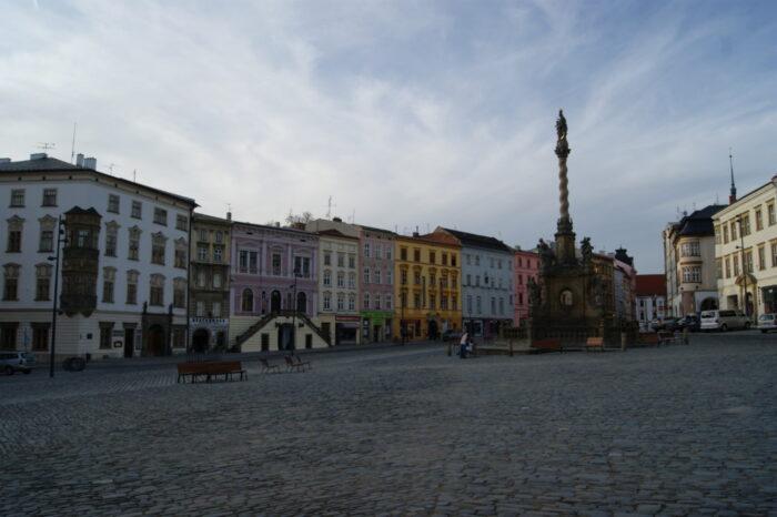 Holy Trinity Column, Mariánský sloup, Dolní náměstí, Olomouc, Czech Republic, 2014