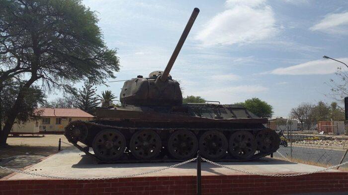 Military Tank, Okahandja, Namibia