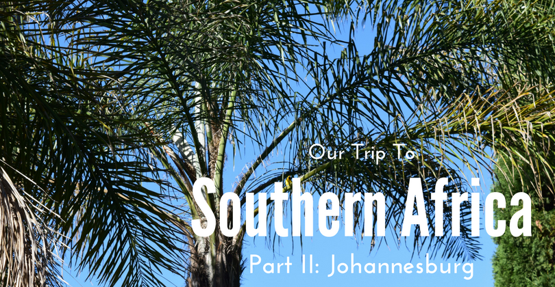 Our Trip to Southern Africa, Part II, Johannesburg, South Africa