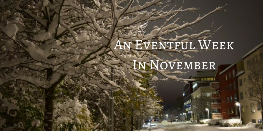 An eventful week in November with two Nordic capitals