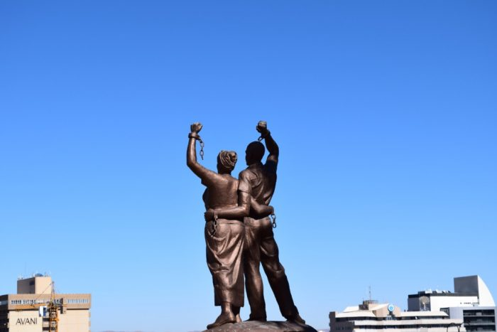 Statue, Alte Feste, Old Fortress, Windhoek, Namibia