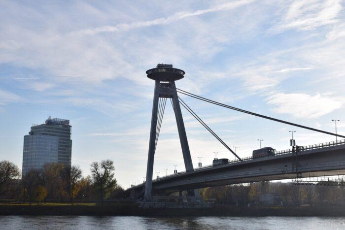 Most SNP, Novy Most, UFO Bridge, Bratislava, Slovakia