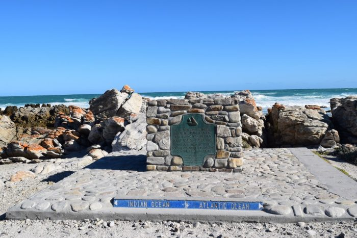 Cape Agulhas, L'Agulhas, South Africa, Southernmost tip of Africa, Indian Ocean, Atlantic Ocean