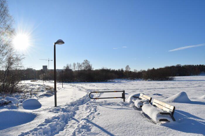 Snow Storm, Kista, Stockholm, Sweden, Snö. Sverige