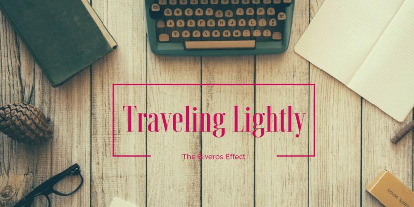 traveling lightly