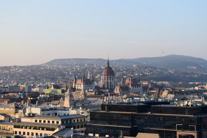 Hungarian Parliament Building, St. Stephen's Basilica, Tower, View, Budapest, Hungary