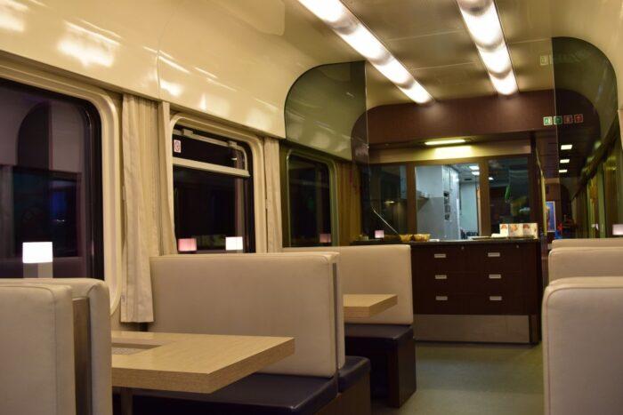 Restaurant, EuroCity Train, Budapest to Bratislava, Hungary, Slovakia