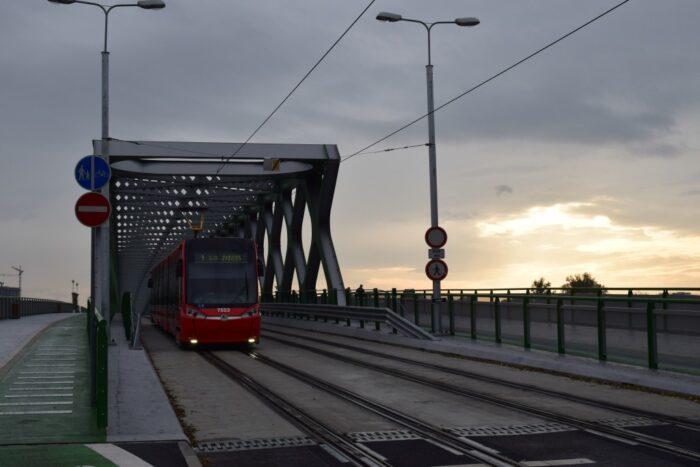 Old Bridge, Tram, Starý Most, Sights in Bratislava, Slovakia
