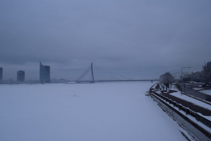 Daugava River, Frozen, Riga, Latvia, 2017