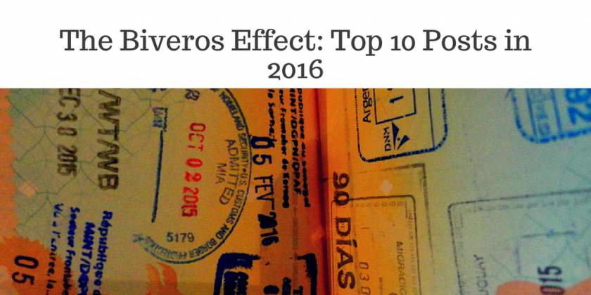 The Biveros Effect- Top 10 Posts in 2016