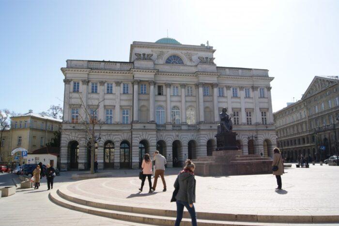 Nicolaus Copernicus Monument, pomnik Mikołaja Kopernika, Warsaw, Warszawa, Poland, Polska, Polen, 2014