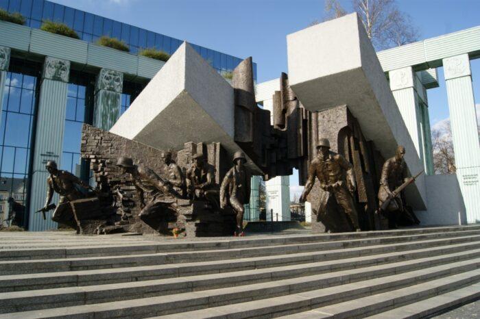 Warsaw Monument to Insurgents, Pomnik Powstania Warszawskiego 1944, Warsaw, Warszawa, Poland, Polska, Polen, 2014