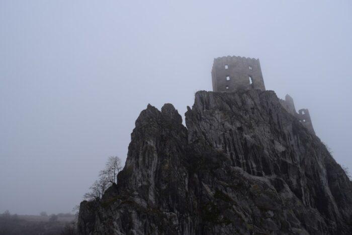 Hrad, Castle, Beckov, Slovakia, Driving Into the Fog