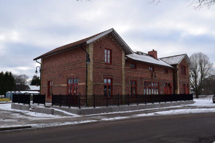 Järnvägsstation, Smålandsstenar, Småland, Sweden, Sverige
