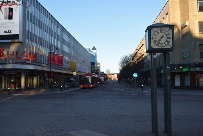 Drottninggatan, Klockan, Clock, Karlstad, Sweden