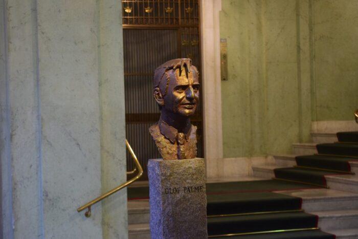 Olof Palme, Swedish Riksdag, Stockholm, Sweden