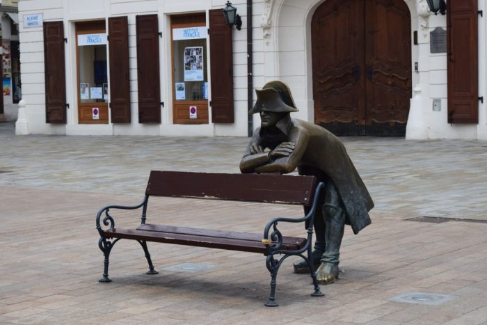 Sights in Bratislava, Napoleon's Army Soldier, Slovensko, Slovakia, Slovakien