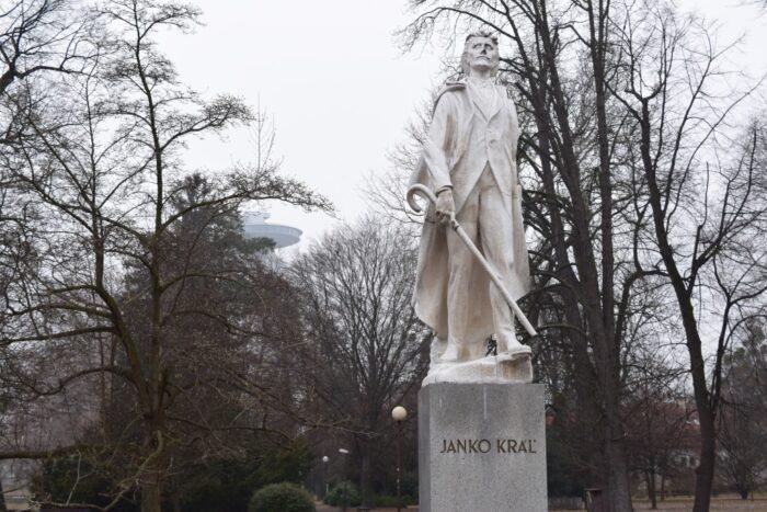 Sad Janka Kráľa, Bratislava, Slovakia, Janko Kráľ Statue