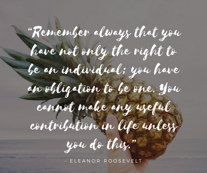 International Women's Day; quote; Eleanor Roosevelt