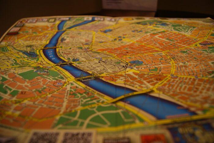 Budapest, Hungary, map