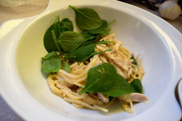 one-pot pasta chicken alfredo, simple cooking, recipes