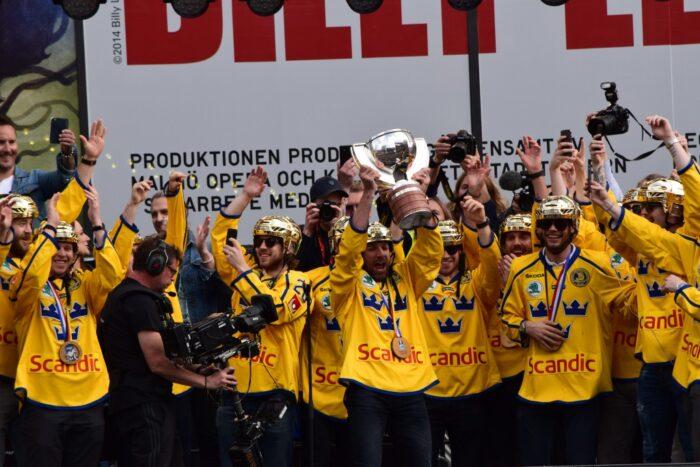 Sergels Torg, Stockholm, Sweden, 2017, Joel Lundqvist, Gold, Ice Hockey World Championship