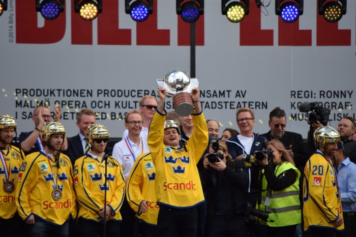 Sergels Torg, Stockholm, Sweden, 2017, William Nylander, Gold, Ice Hockey World Championship