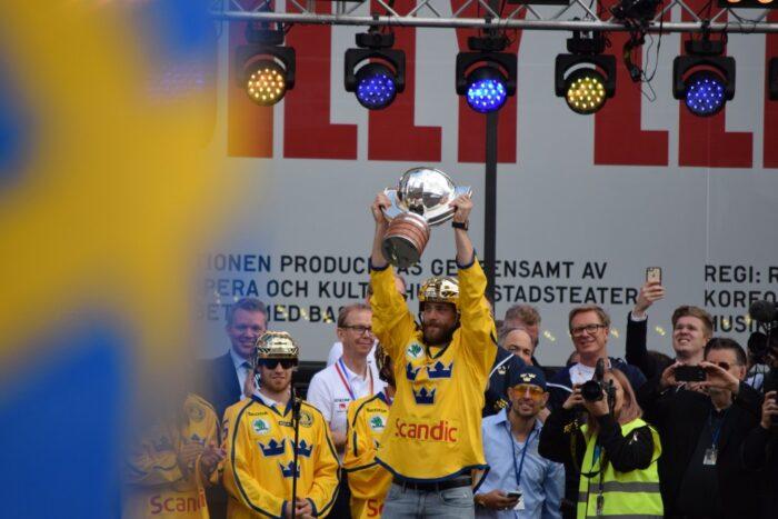 Sergels Torg, Stockholm, Sweden, 2017, Viktor Hedman, Gold, Ice Hockey World Championship