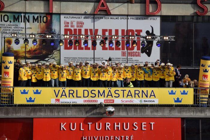 Sergels Torg, Stockholm, Sweden, 2017, Gold, Ice Hockey World Championship
