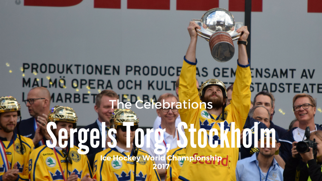 Sergels Torg, Stockholm – Sweden World Champions in Ice Hockey
