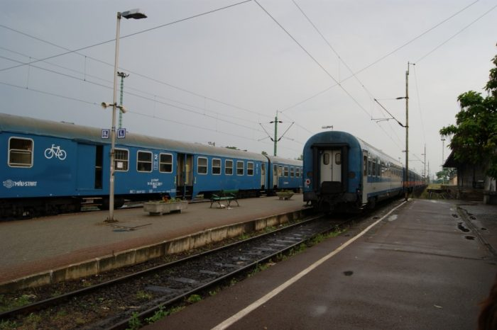 Train yard, Eger, Hungary, 2013