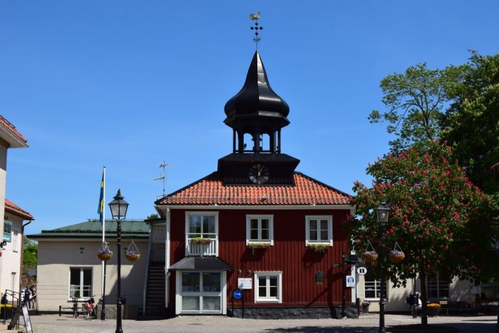 Trosa, Sweden, Town Square, Town Hall, Stadshuset