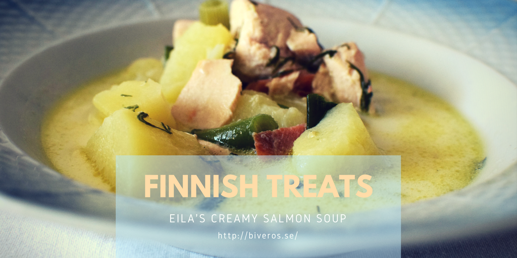 creamy salmon soup, finnish food