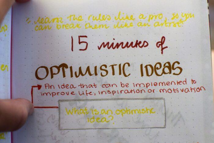 optimistic ideas, bujo, journaling, positive psychology