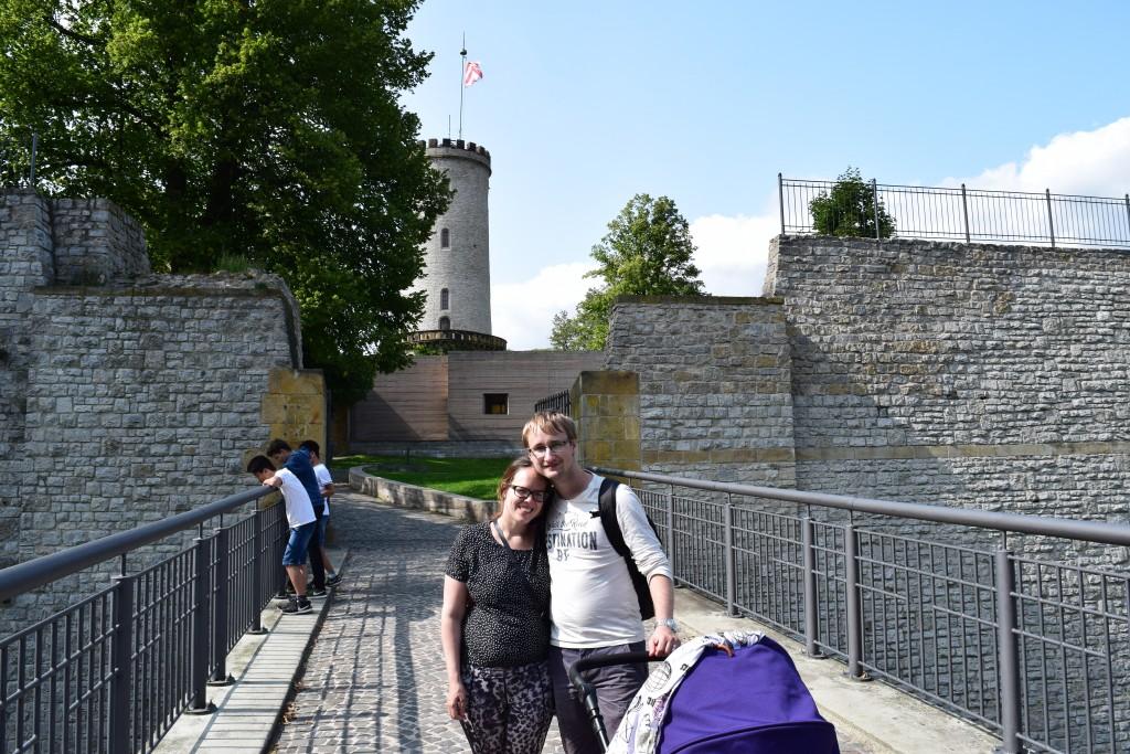 Jesper, Susann, Pram, Sparrenberg Castle, Bielefeld, Germany
