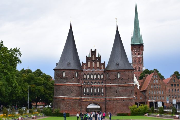 Lübeck, Germany, Holstentor, Holstentorplatz