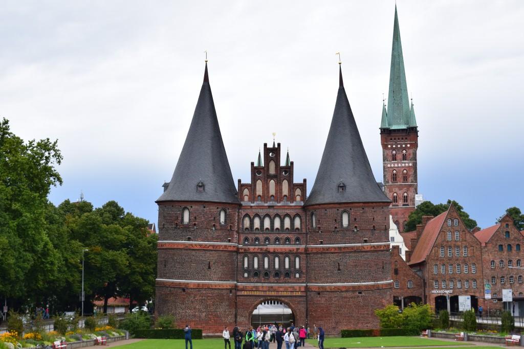 Lübeck, Germany, Holstentor, Holstentorplatz