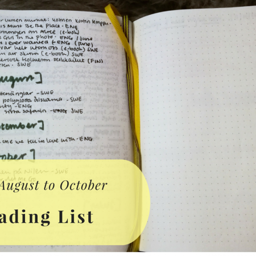 Book list from August to October 2017