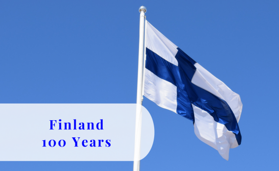 Finland 100 years, flag