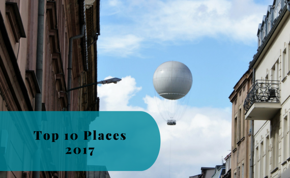 Top 10 Visited Places in 2017